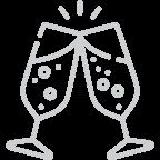 подходит для игристых вин