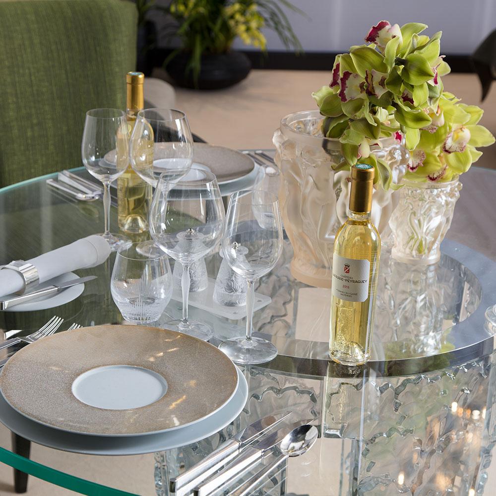 Lalique бокалы для шампанского