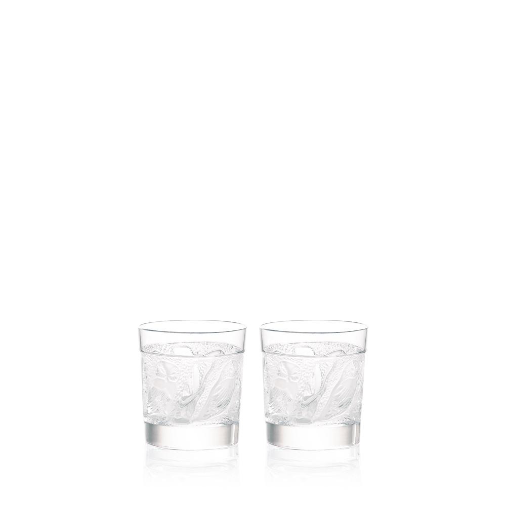 Набор из 2 стаканов для виски Lalique Owl Whisky Tumblers
